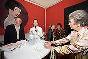 "Presentation of Salon 2008 magazine at Rudolf Budja Galerie. From l.: Derek Weber (Editor-in-chief), Dr. Bodo Polzer (Editor), Elke Polzer, Suzanne Harf (Salzburg Festival Sponsoring & Protocol), Countess Marianne of Sayn-Wittgenstein-Sayn (""Manni"")."