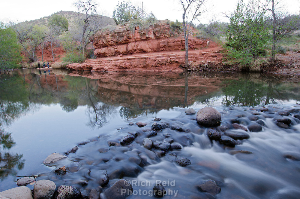 Water flowing in Wet Creek near Beaver Creek Campground in Coconino National Forest, Arizona.