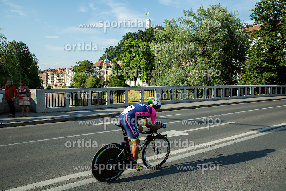 FENG Chun Kai (Taiwan) of Team Lampre - Merida competes during Stage 1 of 22nd Tour of Slovenia 2015 - Time Trial 8,8 km cycling race in Ljubljana  on June 18, 2015 in Slovenia. Photo by Vid Ponikvar / Sportida