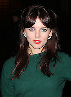 LONDON - DECEMBER 13: Ophelia Lovibond attended the English National Ballet Christmas Party at St Martins Lane Hotel, London, UK. December 13, 2012. (Photo by Richard Goldschmidt)