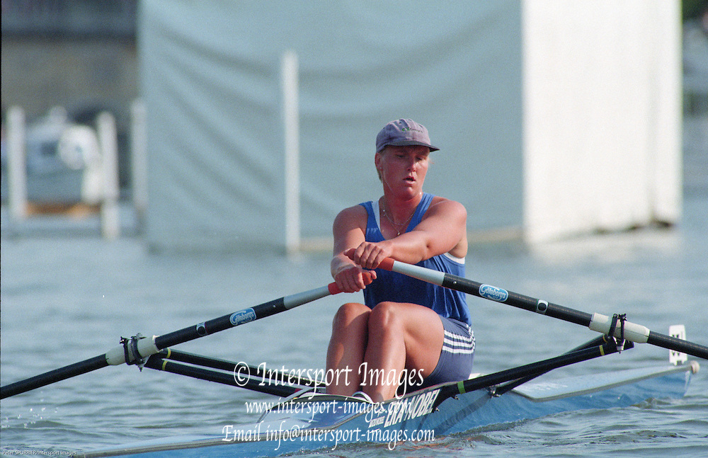 Henley. United Kingdom.  SWE W1X, Marie BRANDIN, competing in the Princess Royal Sculls Challenge and the FISA World Cup event. Men and Women's single Sculls at the 1995 Henley Royal Regatta. Henley Reach, England.<br /> <br /> {Mandatory Credit: Peter SPURRIER/Intersport Images]