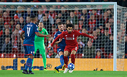LIVERPOOL, ENGLAND - Wednesday, October 24, 2018: Liverpool's Mohamed Salah during the UEFA Champions League Group C match between Liverpool FC and FK Crvena zvezda (Red Star Belgrade) at Anfield. (Pic by David Rawcliffe/Propaganda)