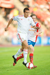 OSLO, NORWAY - Wednesday, August 5, 2009: Liverpool's Philipp Degen in action against FC Lyn Oslo during a preseason match at the Bislett Stadion. (Pic by David Rawcliffe/Propaganda)