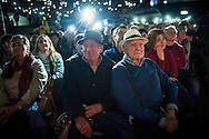 People attend a tribute meeting to Basque politician Arnaldo Otegi, organized by Sortu pro-indpendence party, four days after he left prison. Donostia (Basque Country). March 5, 2016. Arnaldo Otegi is a politician, member of the Basque patriotic left movement, who was arrested in 2009, acused of trying to rebuild outlawed Batasuna pro-independence party, and was given a ten year sentence. In may 2012 Otegi's sentence was reduced to 6 1/2 years by the Spanish Supreme Court, as they decided he was not part of ETA. (Gari Garaialde / Bostok Photo)