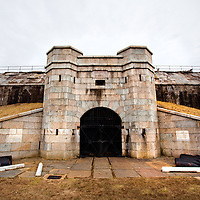 "Battery Potter or ""Gun Lift Battery No.1"" built in 1892 at Fort Hancock, New Jersey was the world's only disappearing gun battery that used hydraulic elevators to move the guns above a protective parapet wall. Battery Potter was also the first Endicott system battery to be partially armed."