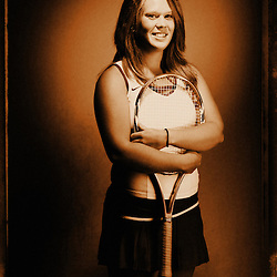 Kyle Green | The Roanoke Times<br /> June 04, 2010 Timesland girls tennis player  of the year 2010 -- Grace Sarver, Bland County.