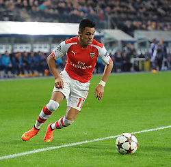 Arsenal's Alexis Sanchez - Photo mandatory by-line: Dougie Allward/JMP - Mobile: 07966 386802 - 22/10/2014 - SPORT - Football - Anderlecht - Constant Vanden Stockstadion - R.S.C. Anderlecht v Arsenal - UEFA Champions League - Group D
