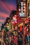 Country Music bars on Broadway, Nashville, Tennessee, USA.