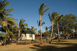 Hawaii: Molokai, eco-lodging at The Lodge at Moloki Ranch, at Kaupoa Beach, self-sufficient lodgings with own solar electricity, solar hot water, and composting toilet..Photo himolo200-71926..Photo copyright Lee Foster, www.fostertravel.com, lee@fostertravel.com, 510-549-2202