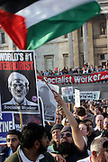 People protesting in Trafalgar Square during an anti-war demonstration held in central London, UK, on Saturday, March 19, 2005. **ITALY OUT**