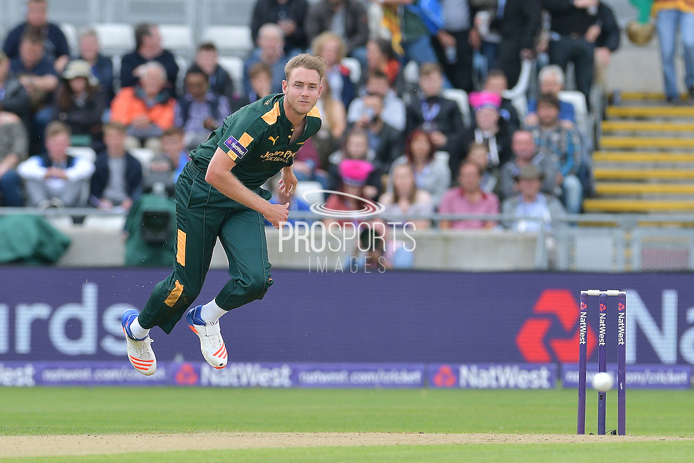 Stuart Broad following through during the NatWest T20 Finals Day 2016 match between Nottinghamshire County Cricket Club and Northamptonshire County Cricket Club at Edgbaston, Birmingham, United Kingdom on 20 August 2016. Photo by Simon Trafford.