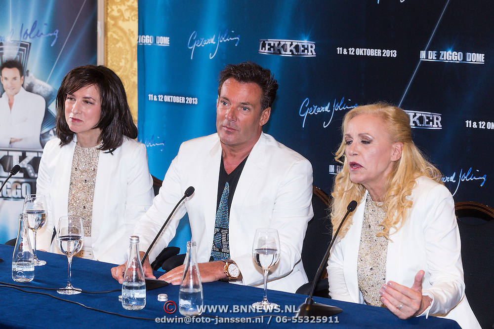 NLD/Amsterdam/20130808- Persconferentie Lekker concert Gerard Joling 2013, dames Maywood met Gerard