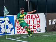 Tampa Bay Rowdies midfielder Andrew Tinari(15) puts the play with a corner kick during a USL soccer game, Sunday, May 26, 2019, in St. Petersburg, Fla. The Rowdies defeated the Rangers 1-0. (Brian Villanueva/Image of Sport)