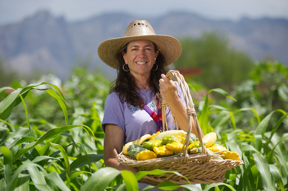 Farmer portrait with Produce