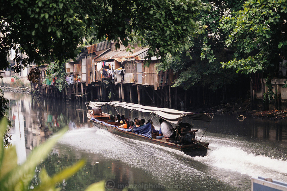 Water taxi in Bangkok, Thailand.  Material World Project.