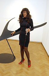 Singer SHEILA FERGUSON at an exhibition of work by Daniel Chadwick held at Beaux Art, Cork Street, London on 1st February 2005.<br />