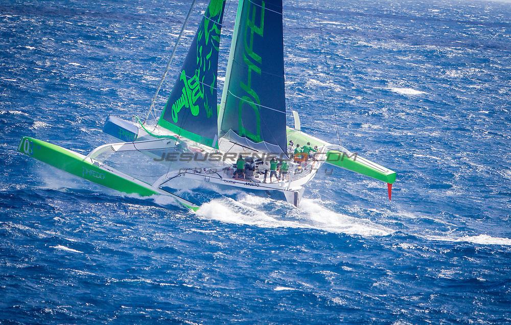MOD 70 Phaedo³   Saint Marteen, 7th March 2015 , Heineken Regatta,  around the Island race.