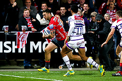 Matt Banahan of Gloucester Rugby scores a try - Mandatory by-line: Robbie Stephenson/JMP - 16/11/2018 - RUGBY - Kingsholm - Gloucester, England - Gloucester Rugby v Leicester Tigers - Gallagher Premiership Rugby