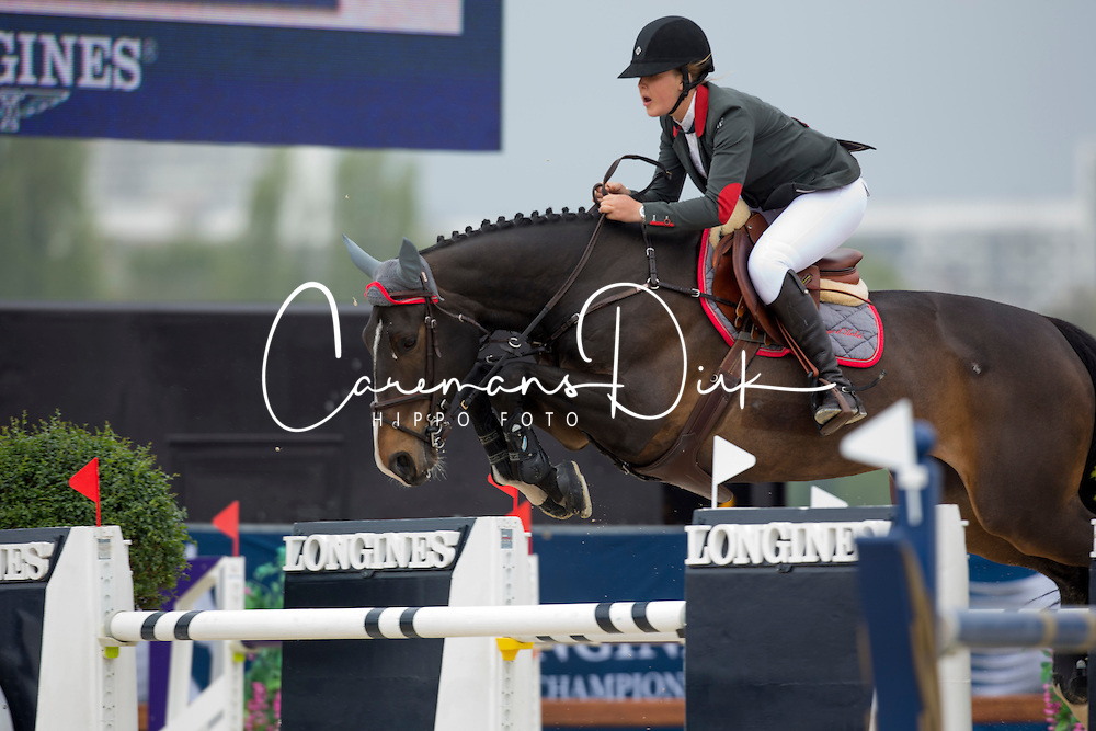 Peninque Guilbert Raphaele, (BEL), Samara de Mazure <br /> Grans Prix CSI 2*<br /> Longines Global Champions Tour - Antwerp 2015<br />  &copy; Hippo Foto - Dirk Caremans<br /> 25/04/15
