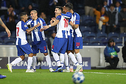 November 6, 2018 - Porto, Porto, Portugal - Porto's Mexican midfielder Hector Herrera (C) celebrates after scoring a goal during the UEFA Champions League, match between FC Porto and FC Lokomotiv Moscow, at Dragao Stadium in Porto on November 6, 2018 in Porto, Portugal. (Credit Image: © Dpi/NurPhoto via ZUMA Press)