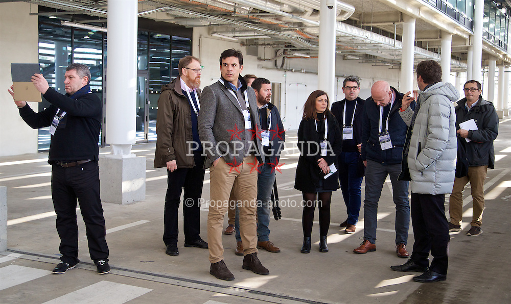 BORDEAUX, FRANCE - Tuesday, January 26, 2016: Wales' manager Chris Coleman during an inspection visit to the Stade Matmut Atlantique, home of Girondins de Bordeaux, ahead of the UEFA Euro 2016 Tournament. (Pic by David Rawcliffe/Propaganda)
