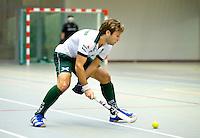 ARNHEM - , De mannen van Rotterdam tijdens de eerste dag van de zaalhockey competitie in de hoofdklasse, seizoen 2013/2014. COPYRIGHT KOEN SUYK