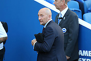 Ian Holloway before the Sky Bet Championship match between Brighton and Hove Albion and Nottingham Forest at The American Express Community Stadium, Brighton and Hove, England on 7 August 2015. Photo by Phil Duncan.