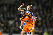 Ipswich Town midfielder Jonathan Douglas (22) during the Sky Bet Championship match between Brighton and Hove Albion and Ipswich Town at the American Express Community Stadium, Brighton and Hove, England on 29 December 2015.