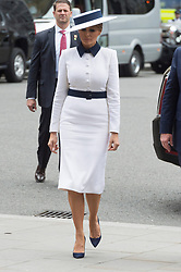 © Licensed to London News Pictures. 03/06/2019. London, UK. US First Lady Melina Trump visit Westminster Abbey on the first day of a three day state visit to the UK. Photo credit: Ray Tang/LNP