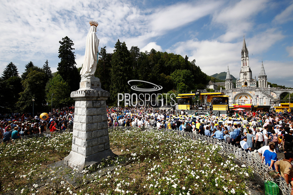Start Lourdes city during the 105th Edition of Tour de France 2018, cycling race stage 19, Lourdes - Laruns (200 km) on July 27, 2018 in Laruns, France - photo Kei Tsuji / BettiniPhoto / ProSportsImages / DPPI