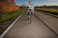 German cyclocross pro rider Philipp Walsleben of BKCP-Powerplus team during a training session, in Aarschot, November 20, 2013.  Babylonia/Thierry Roge
