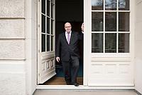 11 APR 2019, BERLIN/GERMANY:<br /> Peter Altmaier, CDU, Bundesminister fuer Wirtschaft und Energie, an der Tuer zum Balkon seine Bueros, Bundesministerium fuer Wirtschaft und Energie<br /> IMAGE: 20190411-01-024<br /> KEYWORDS: Büro