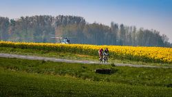 Leading group with SÜTTERLIN Jasha and LEMOINE Cyril during the 115th Paris-Roubaix (1.UWT) from Compiègne to Roubaix (257 km) at Guiscard, France, 9 April 2017. Photo by Pim Nijland / PelotonPhotos.com | All photos usage must carry mandatory copyright credit (Peloton Photos | Pim Nijland)