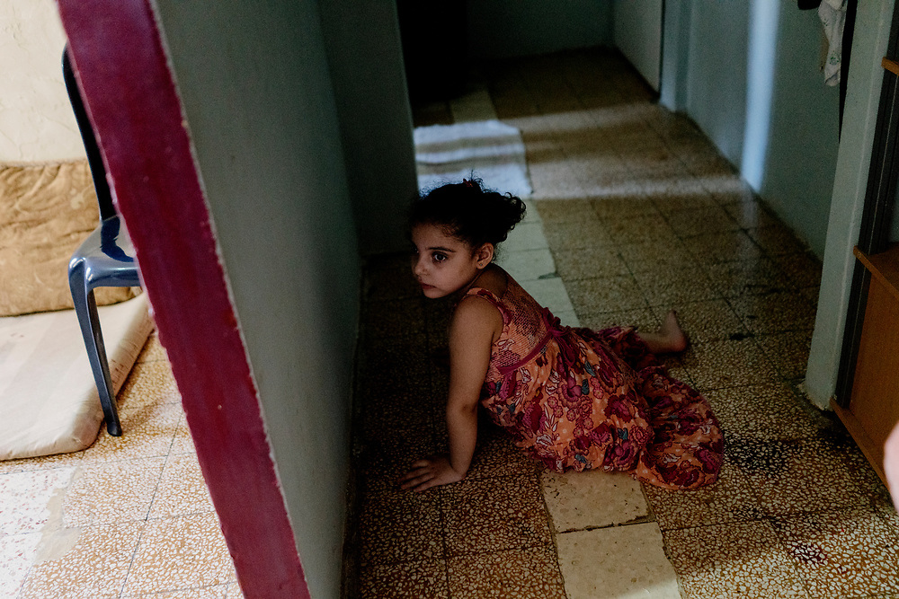 Khadijah Moussa (6 years old) comes from a Syrian family composed of 7 members. They moved to Lebanon 5 years ago during the Syrian crisis for protection and survival. <br /> Khadija is one of 5 children, aged 6 years old and physically disabled.