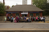 "The Hyde Park Historical Society in conjunction with the Hyde Park Chamber of Commerce, in a continuing effort to raise awareness for the seventy-five-thousand-dollar grant competition to rehab the building, rallied people together Sunday, October 22nd, 2017 to create a record breaking photo. The intention was to break the Guiness Book of World Records record for the number of people photographed in front of a one room museum. Around 80 people are pictured in the photo.<br /> <br /> Please 'Like' ""Spencer Bibbs Photography"" on Facebook.<br /> <br /> Please leave a review for Spencer Bibbs Photography on Yelp.<br /> <br /> All rights to this photo are owned by Spencer Bibbs of Spencer Bibbs Photography and may only be used in any way shape or form, whole or in part with written permission by the owner of the photo, Spencer Bibbs.<br /> <br /> For all of your photography needs, please contact Spencer Bibbs at 773-895-4744. I can also be reached in the following ways:<br /> <br /> Website – www.spbdigitalconcepts.photoshelter.com<br /> <br /> Text - Text ""Spencer Bibbs"" to 72727<br /> <br /> Email – spencerbibbsphotography@yahoo.com"