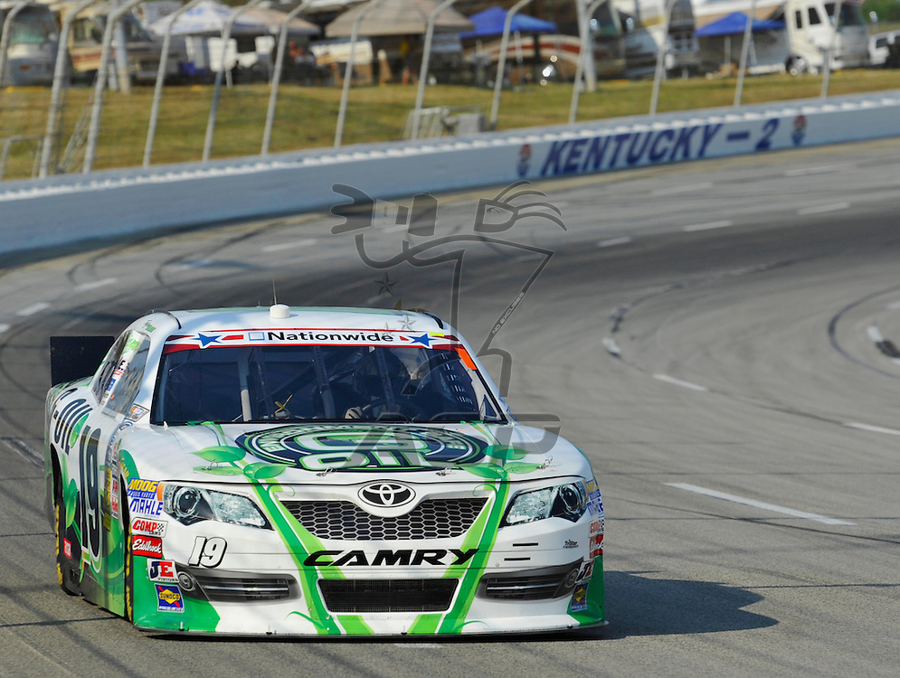 Sparta, KY - JUN 29, 2012: Trevor Bayne (16) during the final practice for the Feed the Children 300 at the Kentucky Speedway in Sparta, KY.