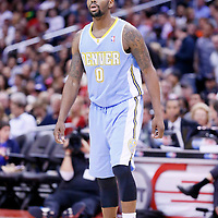 15 April 2014: Denver Nuggets guard Aaron Brooks (0) is seen during the Los Angeles Clippers 117-105 victory over the Denver Nuggets at the Staples Center, Los Angeles, California, USA.