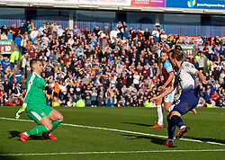 BURNLEY, ENGLAND - Saturday, February 23, 2019: Tottenham Hotspur's Harry Kane scores the first equalising goal during the FA Premier League match between Burnley FC and Tottenham Hotspur FC at Turf Moor. (Pic by David Rawcliffe/Propaganda)