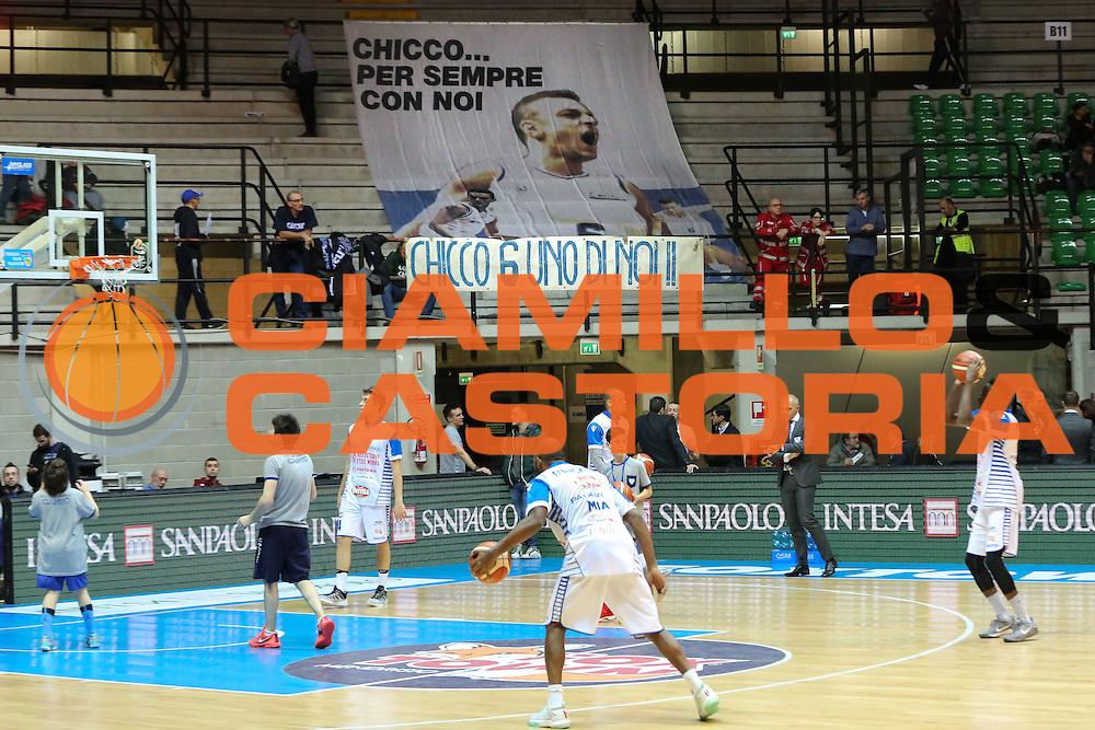 Striscione, Red October Cantù vs Vanoli Cremona LBA serie A 13^ giornata stagione 2016/2017 PalaDesio 27/12/2016