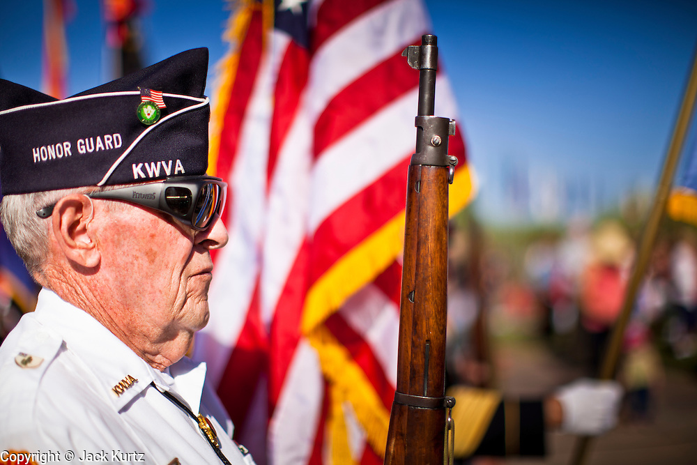 30 MAY 2011 - PHOENIX, AZ:  A member of an Honor Guard at Memorial Day services in the National Memorial Cemetery in Phoenix, AZ, Monday. Memorial Day was celebrated with services across the United States Monday.    Photo by Jack Kurtz