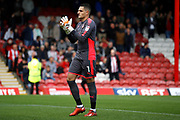Reading Goalkeeper Vito Mannone (1) during the EFL Sky Bet Championship match between Brentford and Reading at Griffin Park, London, England on 16 September 2017. Photo by Andy Walter.