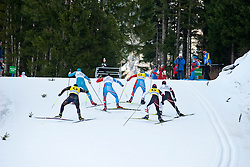 SHULGA Dmytro Guide: GERGARDT Artur, UKR, PONOMAREV Oleg Guide: ROMANOV Andrei, RUS, POLUKHIN Nikolay Guide: TOKAREV Andrey at the 2014 IPC Nordic Skiing World Cup Finals - Sprint