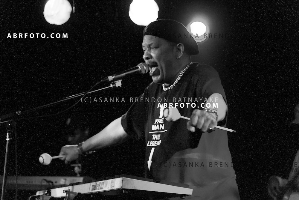 American funk, soul, and jazz composer and vibraphone player Roy Ayers performs at the Prince Hotel St Kilda Melbourne Australia