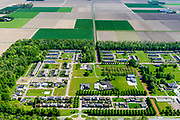 Nederland, Flevoland, Nagele, 07-05-2018; Dorp Nagele in de Noordoostpolder, bijna geheel ontworpen door moderne architecten van de architecten van De Acht en Opbouw. <br /> Village Nagele in the Northeast polder, almost entirely designed by modern architects in the 50s. <br /> luchtfoto (toeslag op standard tarieven);<br /> aerial photo (additional fee required);<br /> copyright foto/photo Siebe Swart