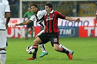 "Carvalho De Olivera Amauri Parma Riccardo Montolivo Milan<br /> Parma 29/09/2012 Stadio ""Tardini""<br /> Football Calcio Serie A 2012/13<br /> Parma v Milan<br /> Foto Insidefoto Paolo Nucci"