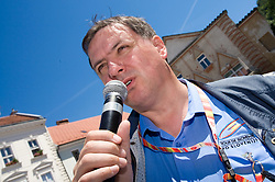 Dare Rupar at 2nd stage of Tour de Slovenie 2009 from Kamnik to Ljubljana, 146 km, on June 19 2009, Slovenia. (Photo by Vid Ponikvar / Sportida)