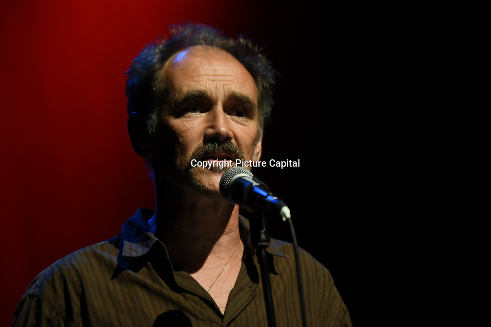 Mark Rylance is an actor preforms at the Just Say No - Artists Against Trump & War host by Stop the War Coalition, Trump is not welcome in the UK at The Shaw Theatre on 8th July 2018.