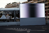 Screen test preperations underway for the 70th Cannes Film Festival at Palais des festivals, starting 17th May. Cannes, France, Tuesday 16th May 2017