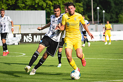 Jan Gorenc of Mura and Matej Podlogar of Domzale during football match between NŠ Mura and NK Domžale in 30th Round of Prva liga Telekom Slovenije 2019/20, on June 28, 2020 in Fazanerija, Murska Sobota, Slovenia. Photo by Blaž Weindorfer / Sportida