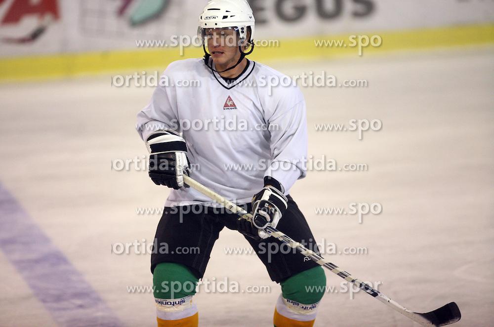 Pasi Petrilainen at second ice hockey practice of HDD Tilia Olimpija on ice in the new season 2008/2009, on August 19, 2008 in Hala Tivoli, Ljubljana, Slovenia. (Photo by Vid Ponikvar / Sportal Images)